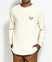 Dark Seas Weston Off-White Long Sleeve Henley Thermal Shirt