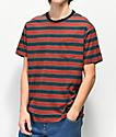 Dark Seas Zuma camiseta de punto azul y roja de rayas