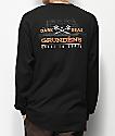 Dark Seas x Grundens Surf Waves Black Long Sleeve T-Shirt