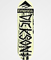 "Deathwish x Emerica Dickson 8.5"" Cream & Black Skateboard Deck"