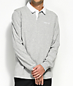 Deathworld Springbok Grey & White Long Sleeve Polo Shirt