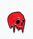 Deja Pins Dripping Skull Pin In Red