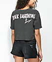 Desert Dreamer Pink Lightning Washed Black Crop T-Shirt