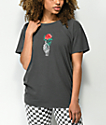 Desert Dreamer Skeleton Carnation camiseta negra