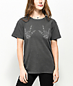 Desert Dreamer Skeleton Hands Washed Black T-Shirt