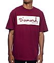 Diamond Supply Co Radiant Box Logo Burgundy T-Shirt