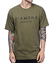 Diamond Supply Co Stone Cut Military Green T-Shirt