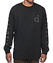 Diamond Supply Co Tonal Un-Polo Black Long Sleeve T-Shirt