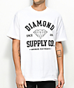 Diamond Supply Co. Athetic camiseta blanca