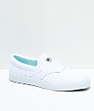 Diamond Supply Co. Boo-J Slip-On zapatos de skate de lienzo blanco