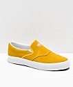 Diamond Supply Co. Boo-J Yellow Suede Slip-On Skate Shoes