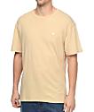 Diamond Supply Co. Brilliant Slub camiseta en color arena
