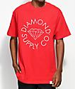 Diamond Supply Co. Circle Logo Red T-Shirt