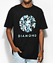 Diamond Supply Co. Dispersion camiseta negra