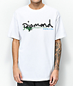 Diamond Supply Co. Floral Gem Script camiseta blanca