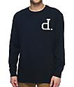 Diamond Supply Co. Football Un Polo camiseta de manga larga en azul marino