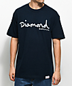 Diamond Supply Co. Infinite OG Script camiseta azul marino