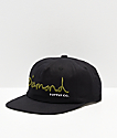 Diamond Supply Co. OG Script Black Strapback Hat