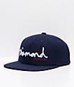 Diamond Supply Co. OG Script Navy Wool Snapback Hat