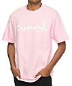 Diamond Supply Co. OG Script camiseta rosa