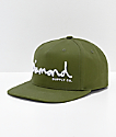 Diamond Supply Co. OG Script gorra oliva