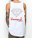 Diamond Supply Co. OG Sign camiseta blanca sin mangas