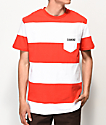Diamond Supply Co. Origin Red & White Stripe T-Shirt