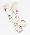 Diamond Supply Co. Outshine calcetines rojos y blancos