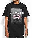 Diamond Supply Co. Pink Spectrum Black T-Shirt