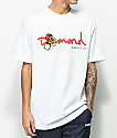 Diamond Supply Co. Rose Snake OG Script White T-Shirt