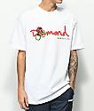 Diamond Supply Co. Rose Snake OG Script camiseta blanca