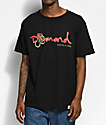 Diamond Supply Co. Rose Snake OG Script camiseta negra