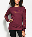 Diamond Supply Co. Stone Cut Burgundy Long Sleeve T-Shirt