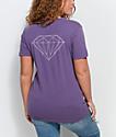 Diamond Supply Co. Stone Cut camiseta morada