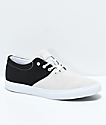 Diamond Supply Co. Torey zapatos de skate de ante blancos y negros