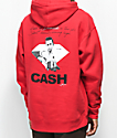 Diamond Supply Co. X Johnny Cash Diamonds In The Sky Red Hoodie