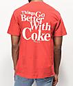Diamond Supply Co. x Coca-Cola OG Sign Red T-Shirt