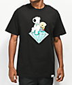 Diamond Supply Co. x Family Guy Stewie & Brian camiseta negra