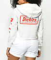 Dickies Classic Logo White Crop Hoodie