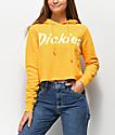 Dickies Logo sudadera corta con capucha amarilla