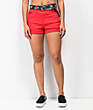 Dickies Mom Shortie shorts rojos