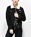 Dickies chaqueta de pana negra y sherpa