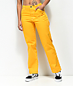 Dickies pantalones amarillos estilo carpintero