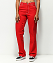 Dickies pantalones de carpintero en rojo