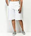 Dickies shorts blancos de pierna ancha