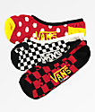 Disney by Vans Mickey Canoodle paquete de 3 calcetines invisibles