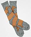 Dog Limited Weiner Wrap Grey Crew Socks
