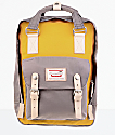 Doughnut Macaroon Mustard & Light Grey Backpack