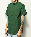 Dravus Alvin Green Nep Short Sleeve Button Up Shirt