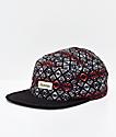 Dravus Dark Alpine Black 5 Panel Strapback Hat